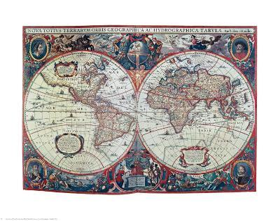 New Earth and Water Map of the Entire World--Art Print