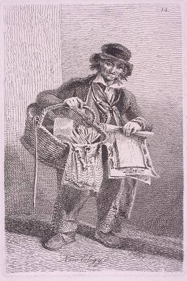 New Elegy, Cries of London, 1819-John Thomas Smith-Giclee Print