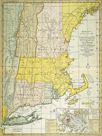 New England Map, C1775