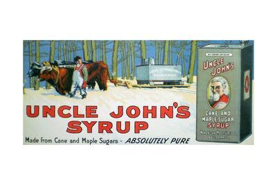 Uncle John's Maple Syrup Framed Ad