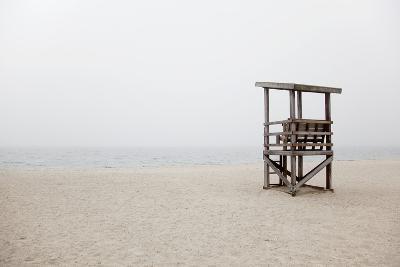 New England, Massachusetts, Cape Cod, Abandoned Lifeguard Station on Beach-Design Pics Inc-Photographic Print