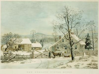 New England Winter Scene, 1861, Currier and Ives, Publishers-Mary Cassatt-Giclee Print