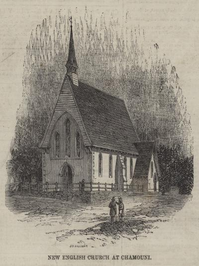 New English Church at Chamouni--Giclee Print