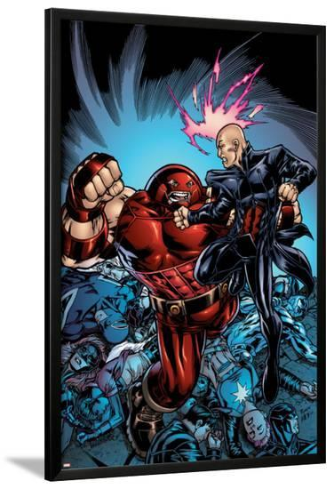 New Excalibur No.3 Cover: Juggernaut and Professor X-Michael Ryan-Lamina Framed Poster