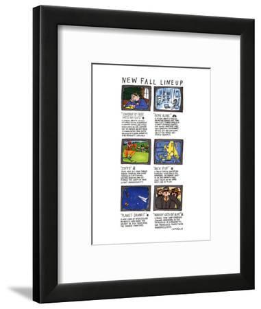 NEW FALL LINEUP - New Yorker Cartoon-Michael Crawford-Framed Premium Giclee Print