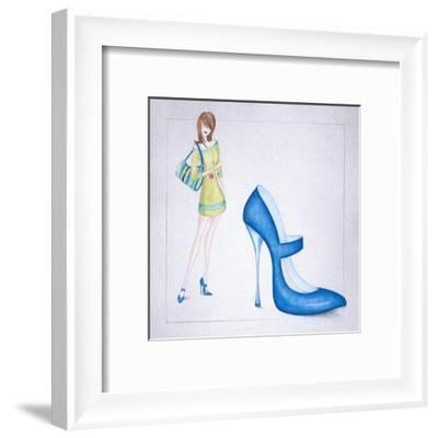 New Fashion I-E^ Serine-Framed Art Print