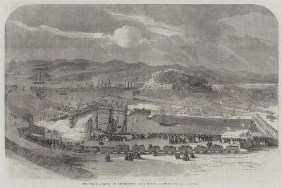 New Floating-Docks at Britonferry, Near Neath, Glamorganshire--Giclee Print