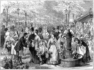 New Flower Market, Paris, 1874