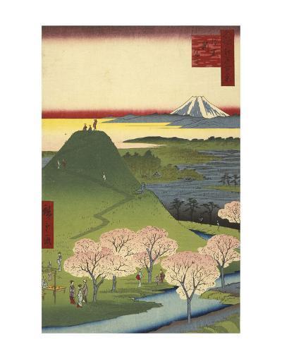 New Fuji, Meguro (Meguro Shin-Fuji), 1857-Ando Hiroshige-Art Print
