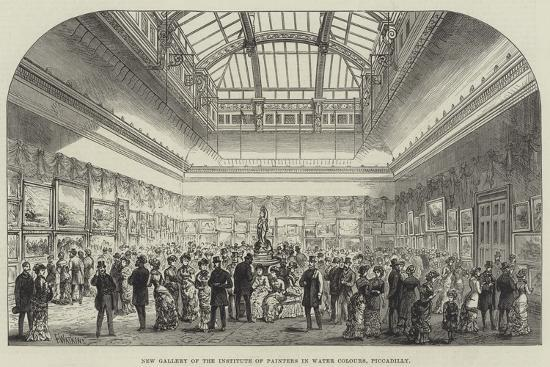 New Gallery of the Institute of Painters in Water Colours, Piccadilly-Frank Watkins-Giclee Print