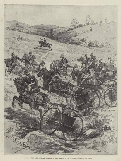 New Galloping Gun Designed by the Earl of Dundonald, Advancing to the Front-Melton Prior-Giclee Print