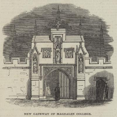 New Gateway of Magdalen College--Giclee Print