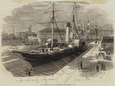 New Graving Dock, at Lowestoft-Edwin Weedon-Giclee Print