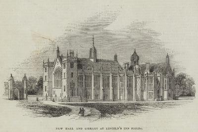 New Hall and Library at Lincoln's Inn Fields--Giclee Print