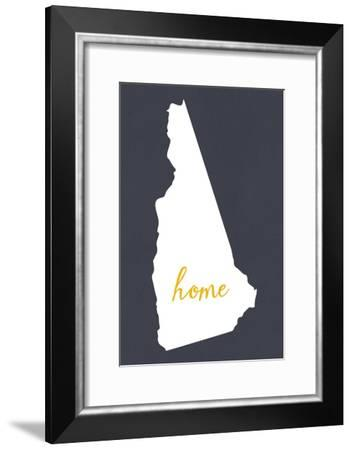 New Hampshire - Home State - Gray-Lantern Press-Framed Art Print