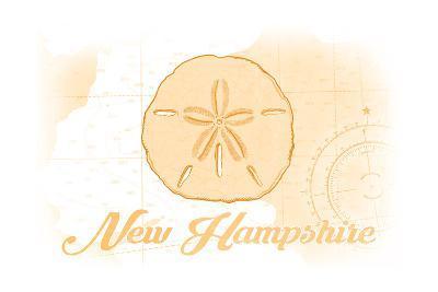 New Hampshire - Sand Dollar - Yellow - Coastal Icon-Lantern Press-Art Print