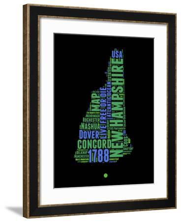 New Hampshire Word Cloud 1-NaxArt-Framed Art Print
