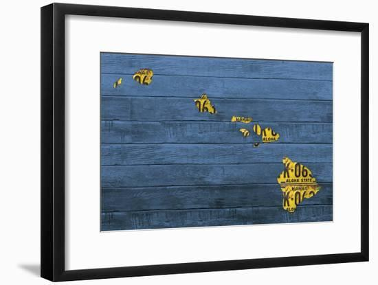 New Hawaii Map-Design Turnpike-Framed Giclee Print