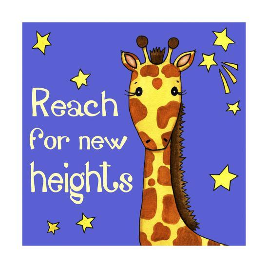 New Heights Giraffe-Jennifer Nilsson-Giclee Print