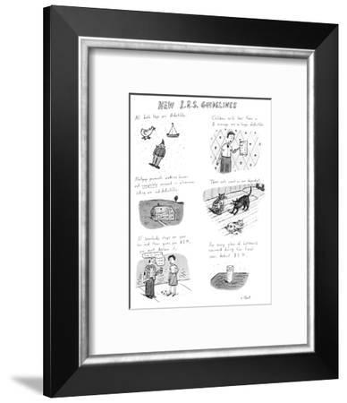 New I.R.S. Guidelines - New Yorker Cartoon-Roz Chast-Framed Premium Giclee Print
