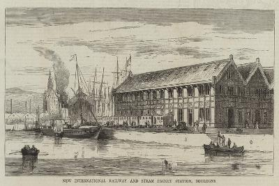 New International Railway and Steam Packet Station, Boulogne--Giclee Print