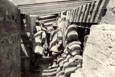 New Italian Trenches, after the Advance into Austrian Territory on the Outskirts of Selz-Ugo Ojetti-Photographic Print