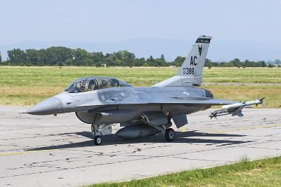 New Jersey Air National Guard F-16C Taxiing at Graf Ignatievo Air Base-Stocktrek Images-Photographic Print