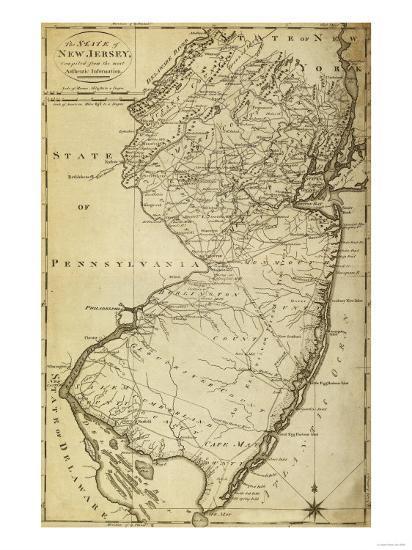 New Jersey - Panoramic Map-Lantern Press-Art Print
