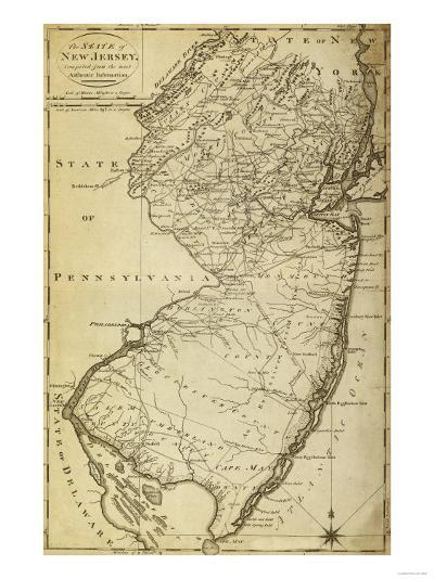 New Jersey - Panoramic Map-Lantern Press-Art Print