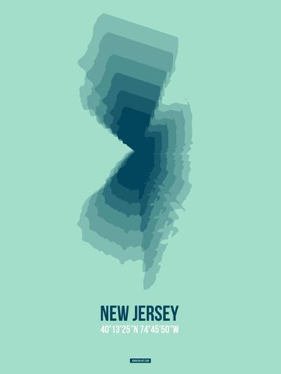New Jersey Radiant Map 2-NaxArt-Art Print