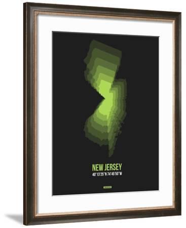 New Jersey Radiant Map 6-NaxArt-Framed Art Print
