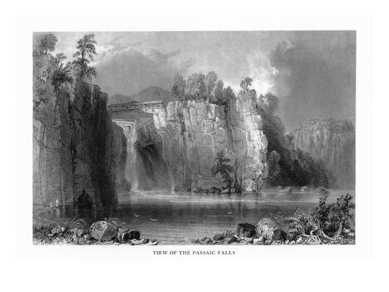 New Jersey, View of the Passaic Falls-Lantern Press-Art Print