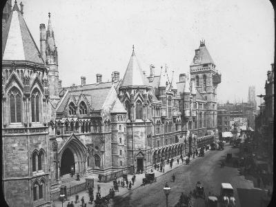 New Law Courts, London, Late 19th Century--Photographic Print