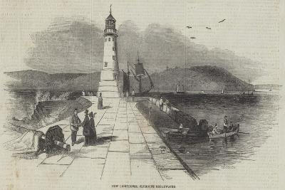 New Lighthouse, Plymouth Breakwater--Giclee Print