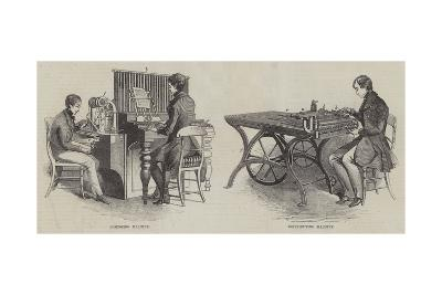 New Mechanical Inventions for the Printing Press--Giclee Print