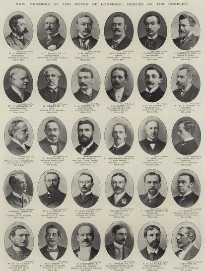 New Members of the House of Commons, Heroes of the Conflict--Premium Giclee Print