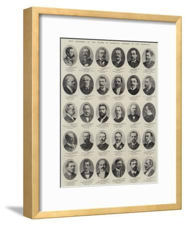 New Members of the House of Commons, Heroes of the Conflict--Framed Giclee Print