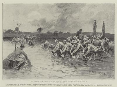 New Method of Crossing Rivers by Infantry, Tested at the Recent Military Manoeuvres in Germany-Henry Charles Seppings Wright-Giclee Print