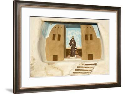 New Mexico. Painting in the Mission San Jose De La Laguna-Luc Novovitch-Framed Photographic Print