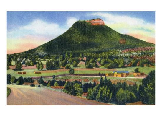 New Mexico, Santa Fe Trail View of Starvation Peak-Lantern Press-Art Print