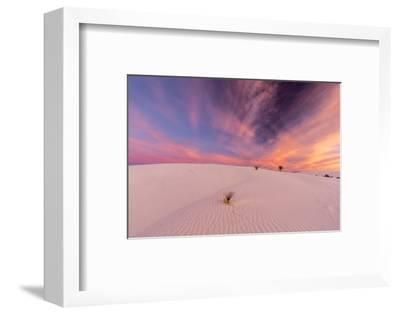 New Mexico, White Sands National Monument. Sunrise on Desert Sand-Jaynes Gallery-Framed Photographic Print
