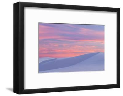 New Mexico, White Sands National Monument. Sunset on Desert Sand-Jaynes Gallery-Framed Photographic Print