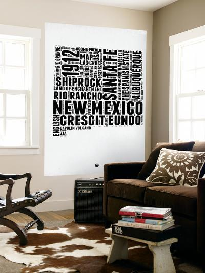 New Mexico Word Cloud 2-NaxArt-Wall Mural