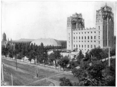 New Mormon Temple, Salt Lake City, Utah, Late 19th Century-John L Stoddard-Giclee Print