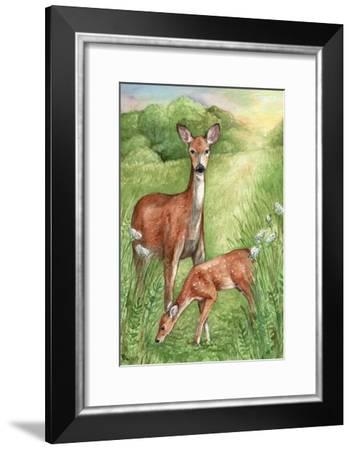New Mother and Fawn-Melinda Hipsher-Framed Giclee Print