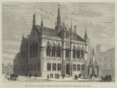 New Municipal Buildings, Inverness, Opened by the Duke of Edinburgh-Frank Watkins-Giclee Print
