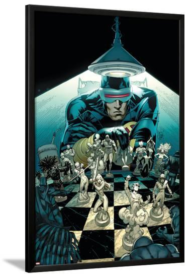 New Mutants No.10 Cover: Cyclops-Adam Kubert-Lamina Framed Poster