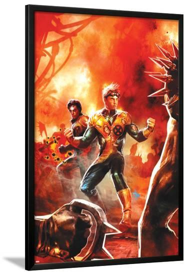 New Mutants No.20 Cover: Cannonball and Sunspot-Dave Wilkins-Lamina Framed Poster