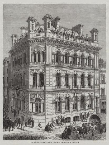 New Offices of the National Provident Institution in Eastcheap-R. Dudley-Giclee Print