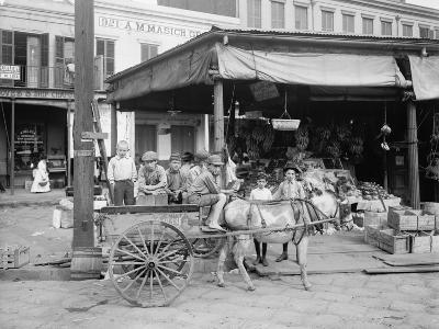 New Orleans, a Corner of the French Market, C.1900-10--Photographic Print